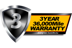 We Now Provide a 3 Year/36,000 Mile Warranty on Our Repairs